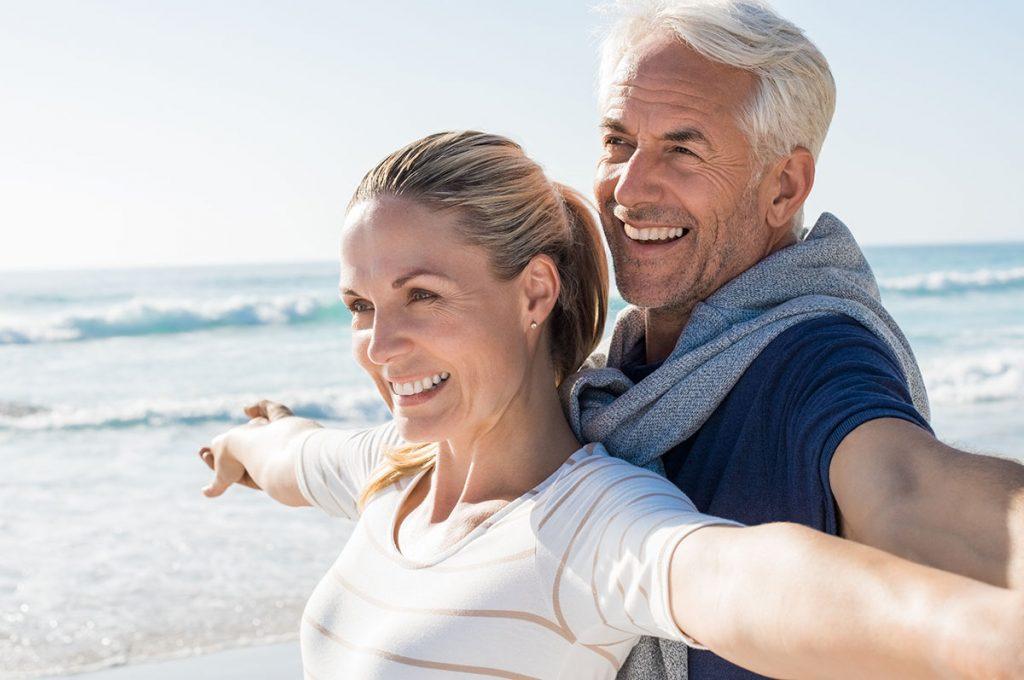 Happy-senior-couple-Leeming-dental